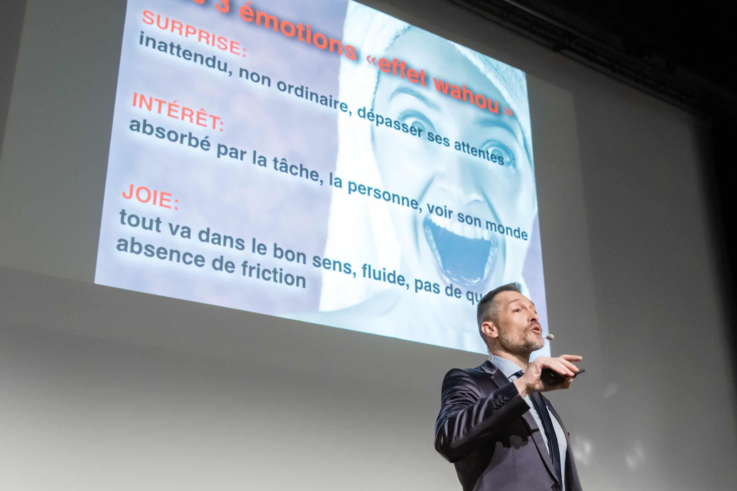 L'effet wahou dans l'expérience client par le conférencier Laurent Beretta