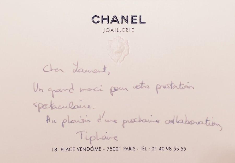 Une recommandation de la maison CHANEL pour un spectacle de magie de luxe par Laurent Beretta